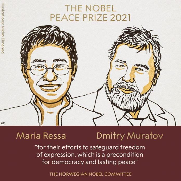 Maria Ressa și Dmitri Muratov